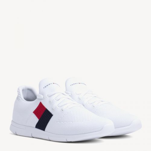 Lightweight Flag Detail Knit Trainers