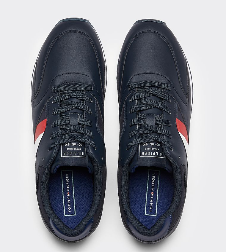 Signature Mixed Texture Panel Trainers