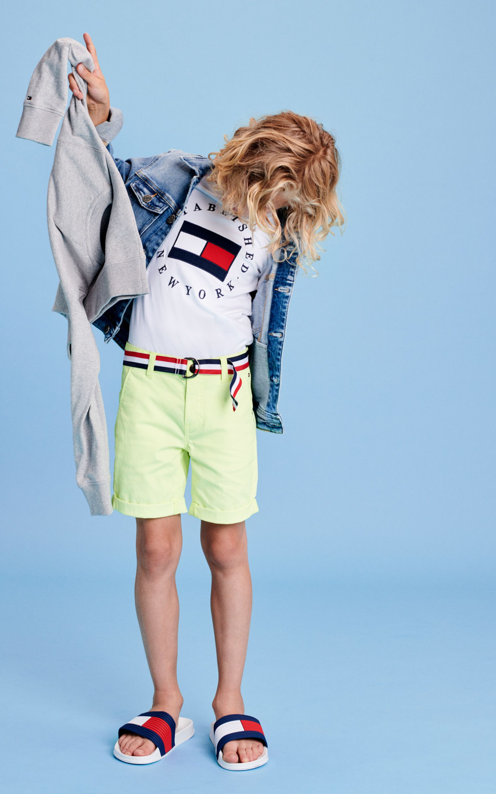 Tommy Hilfiger Boys Essential Belted Chino Shorts