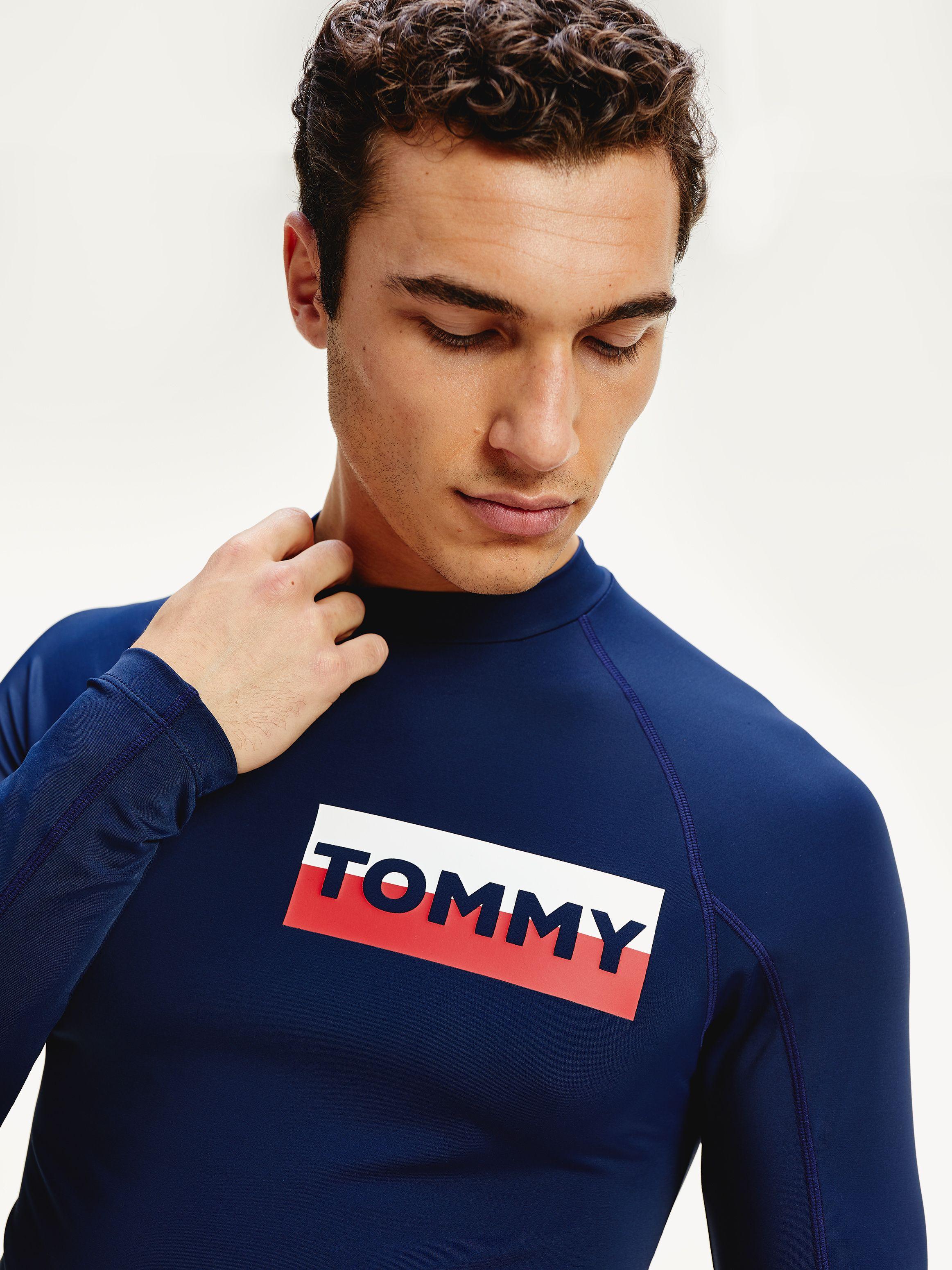 Tommy Hilfiger Mens Rash Guard Long Sleeve